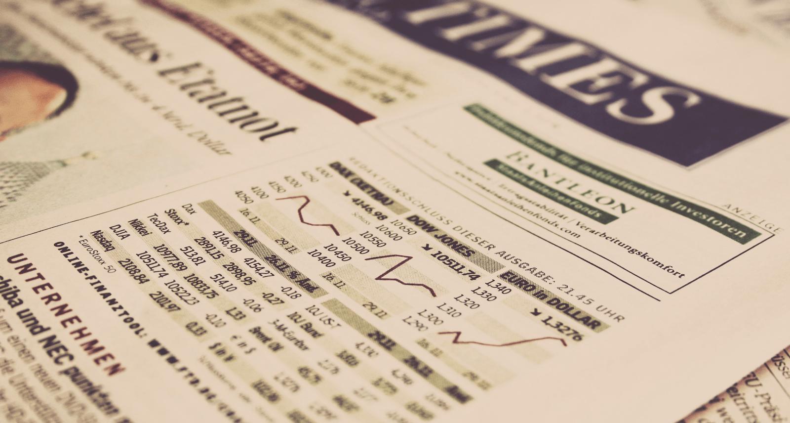 Businessplan - Seite aus Financial Times