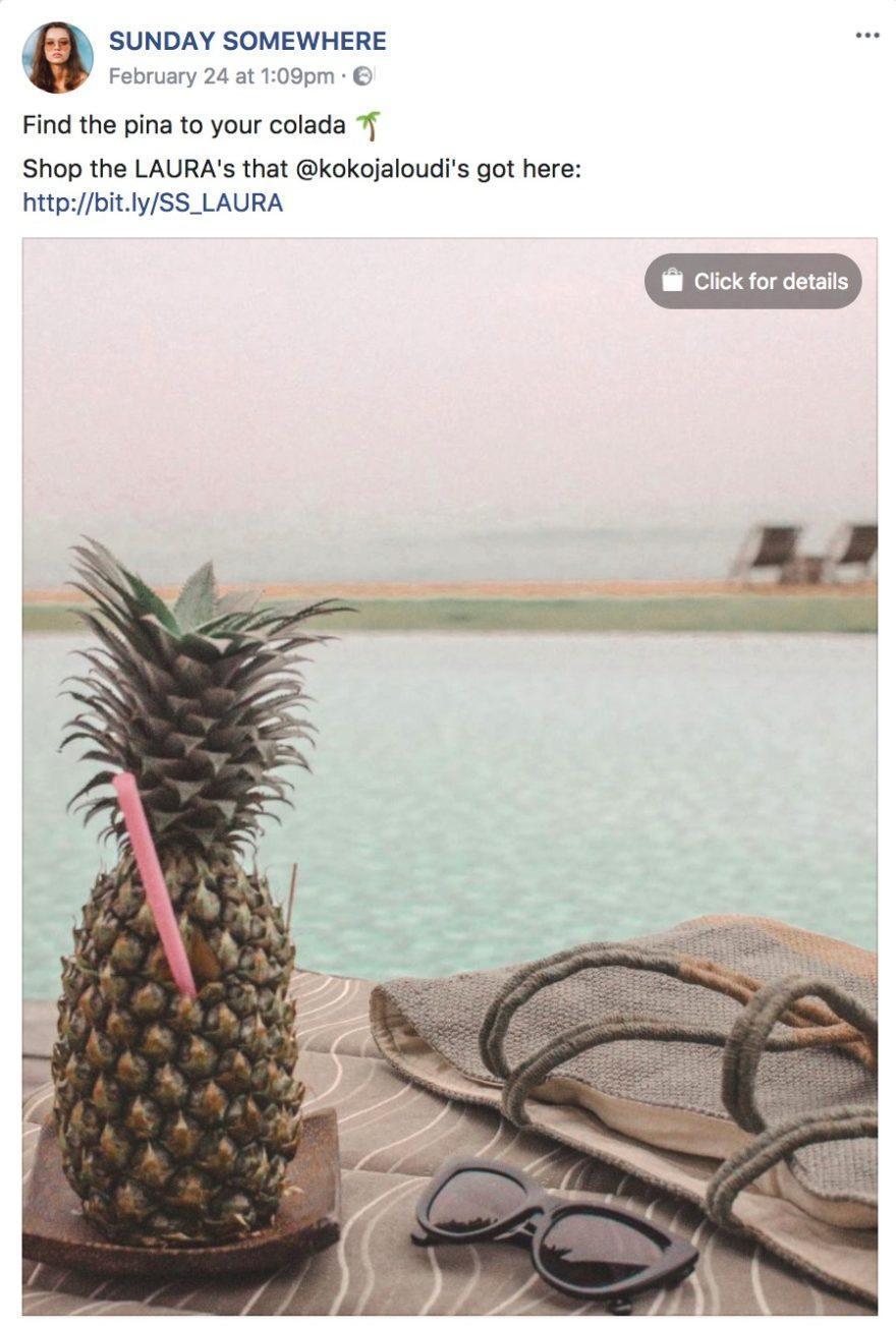 Instagram Brand Awareness - Pool mit Cocktail
