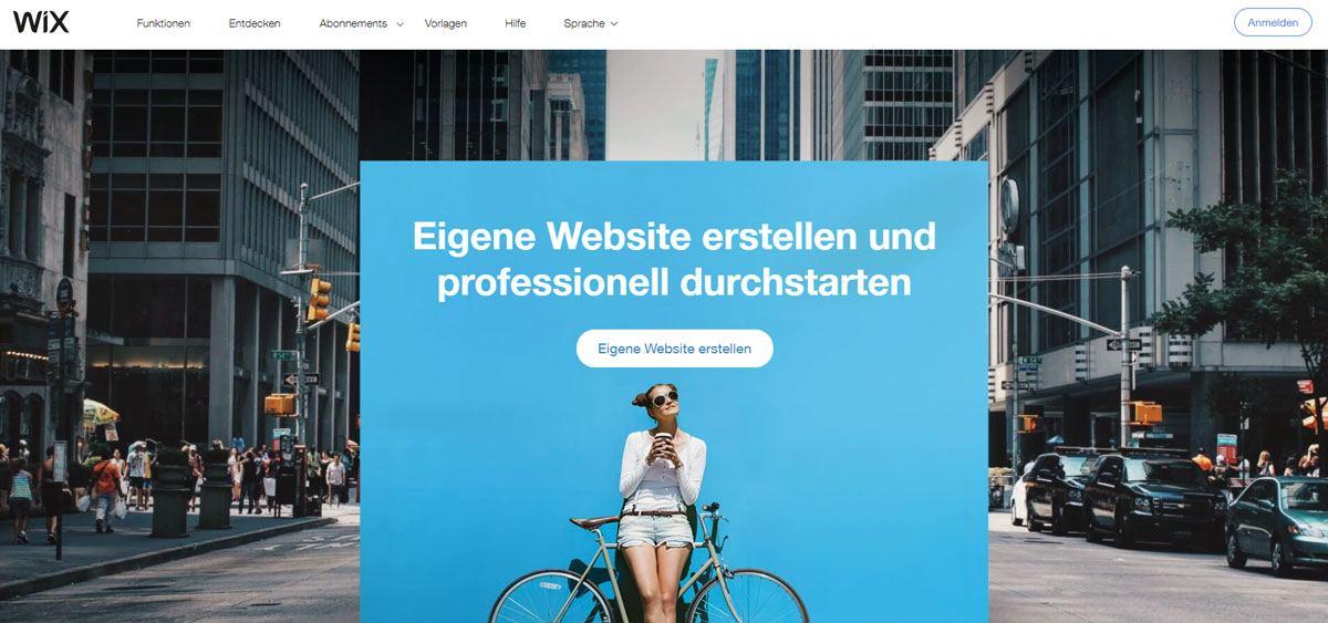 Website erstellen mit Wix