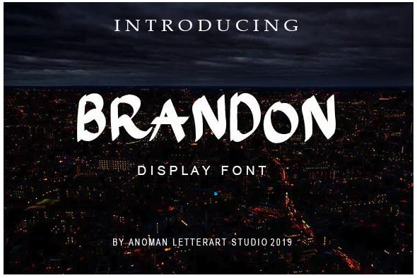 fuente tipografica Brandon Font