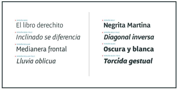 fuente tipografica Gafata