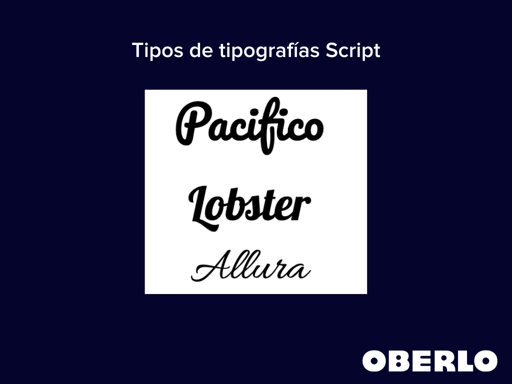 tipos de tipografias script