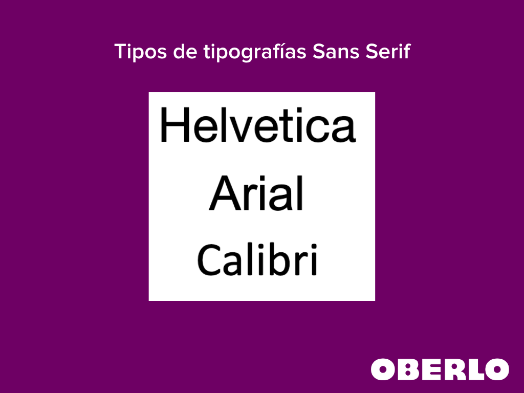 tipos de tipografias sans serif