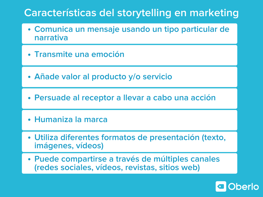 caracteristicas del storytelling en marketing