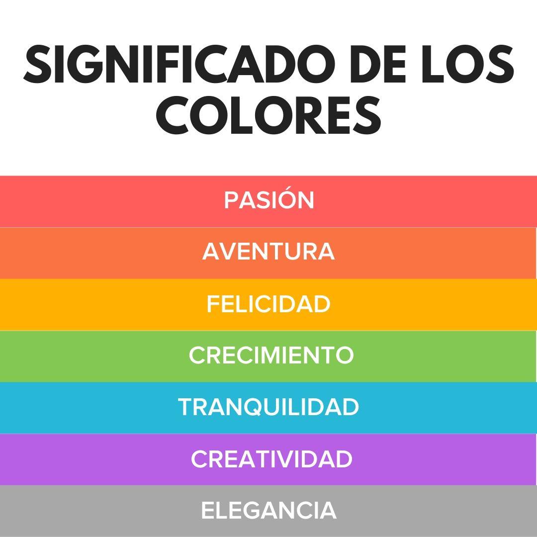 que significan los colores significado de los colores en psicologia