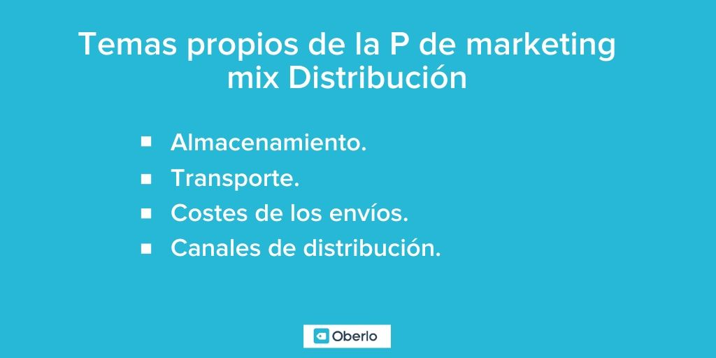 marketing mix distribucion