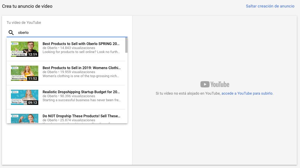 Crea tu anuncio de vídeo