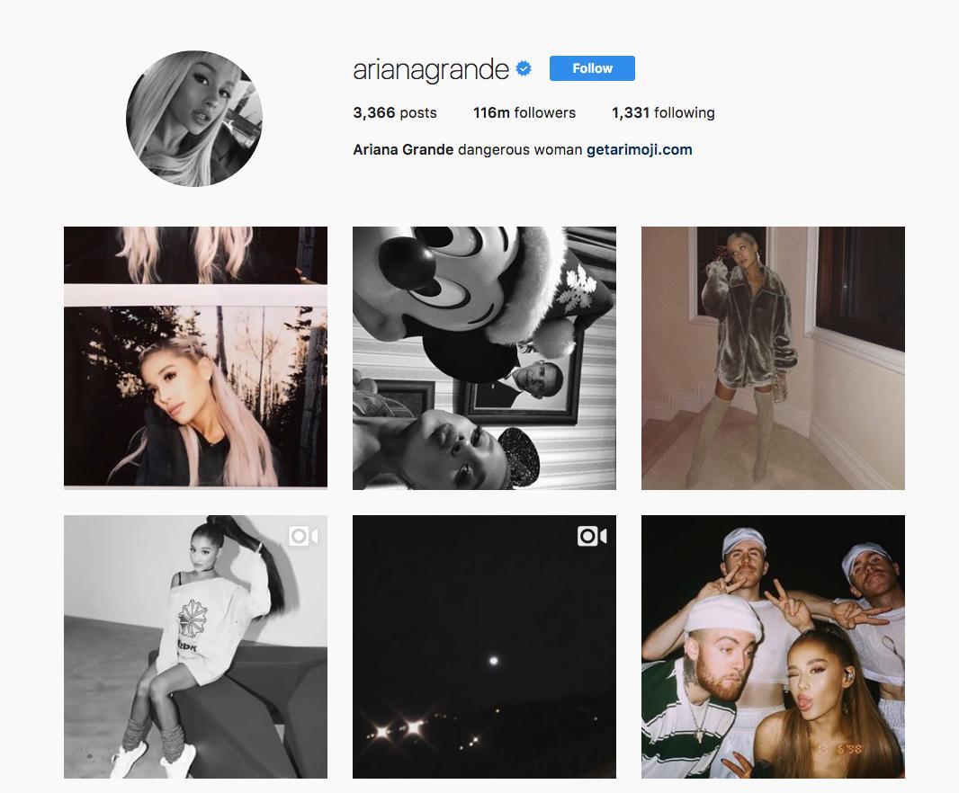 9. Ariana Grande