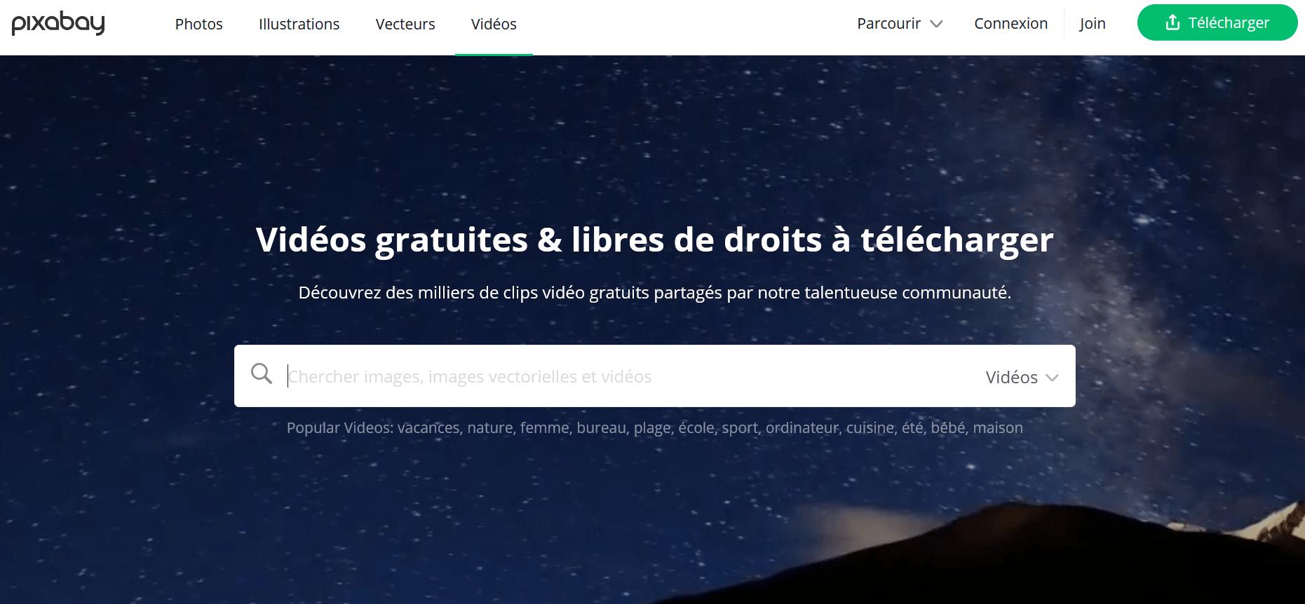 vidéo libre de droit pixabay