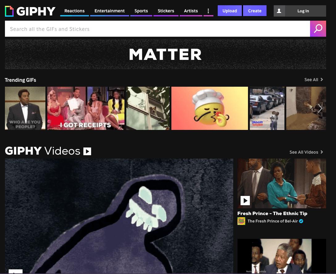 Giphy pour créer un GIF en ligne