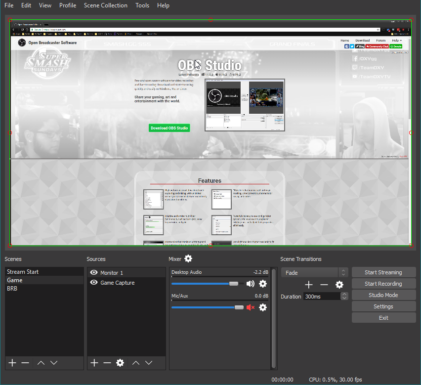 logiciel capture video OBS Studio