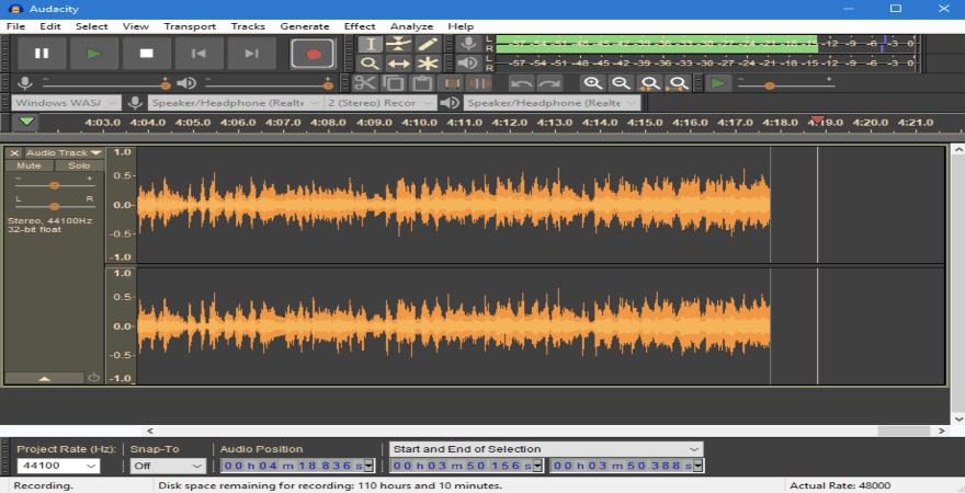 logiciel montage audio audacity