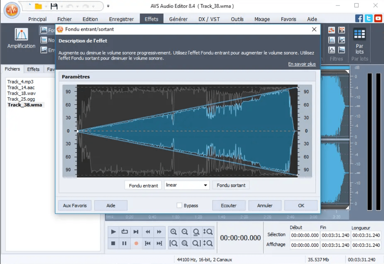 logiciel enregistrement audio avs audio editor