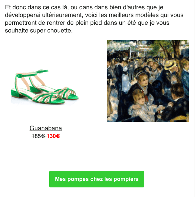 newsletter exemple Patricia Blanchet