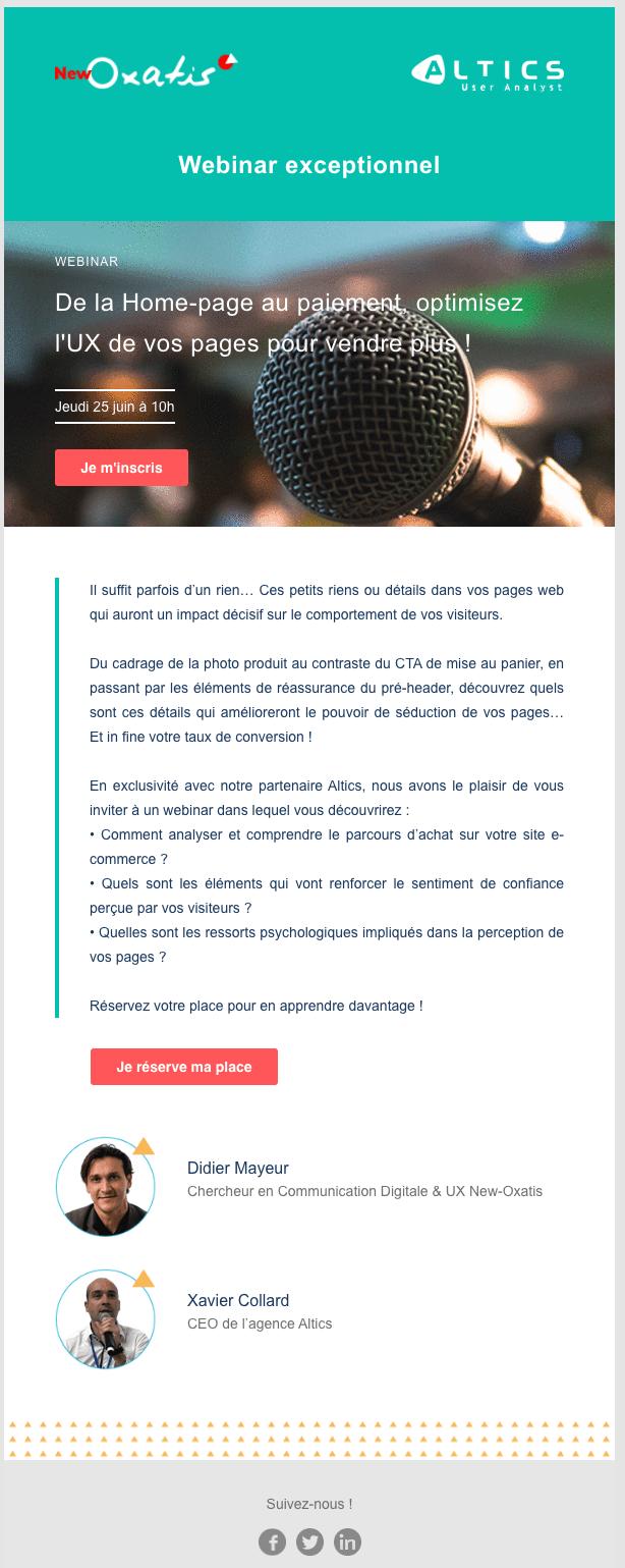 Newsletter Oxatis