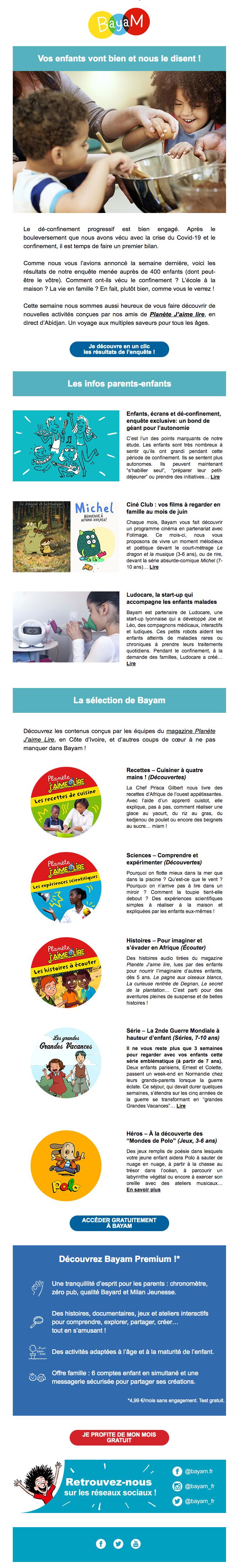 newsletter Bayam