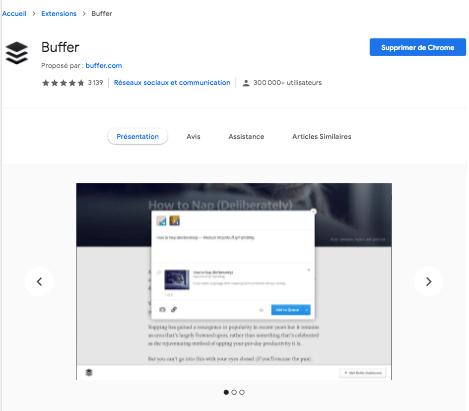 extension Chrome Buffer