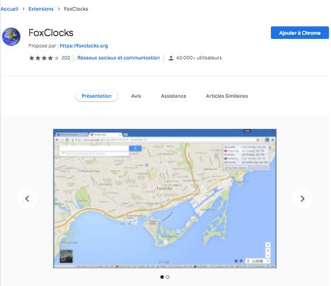 extension Chrome FoxClocks