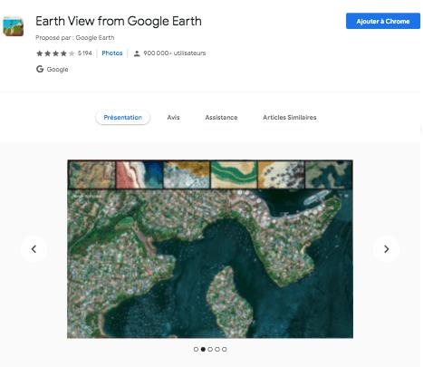 Extension Chrome Google Earth