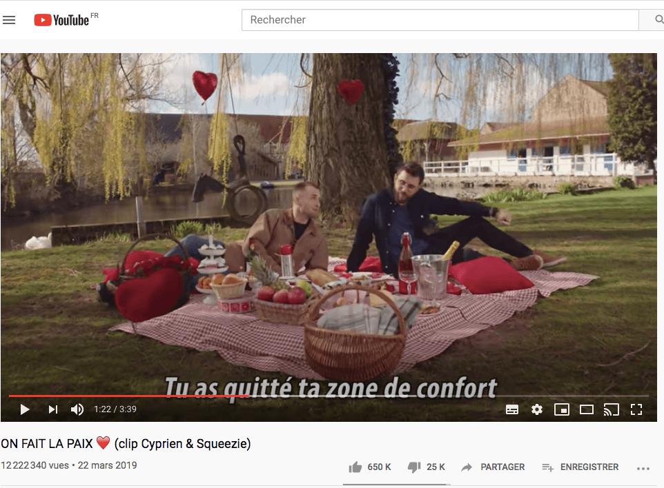 Cyprien et Squeezie au top des videos les plus vues sur Youtube