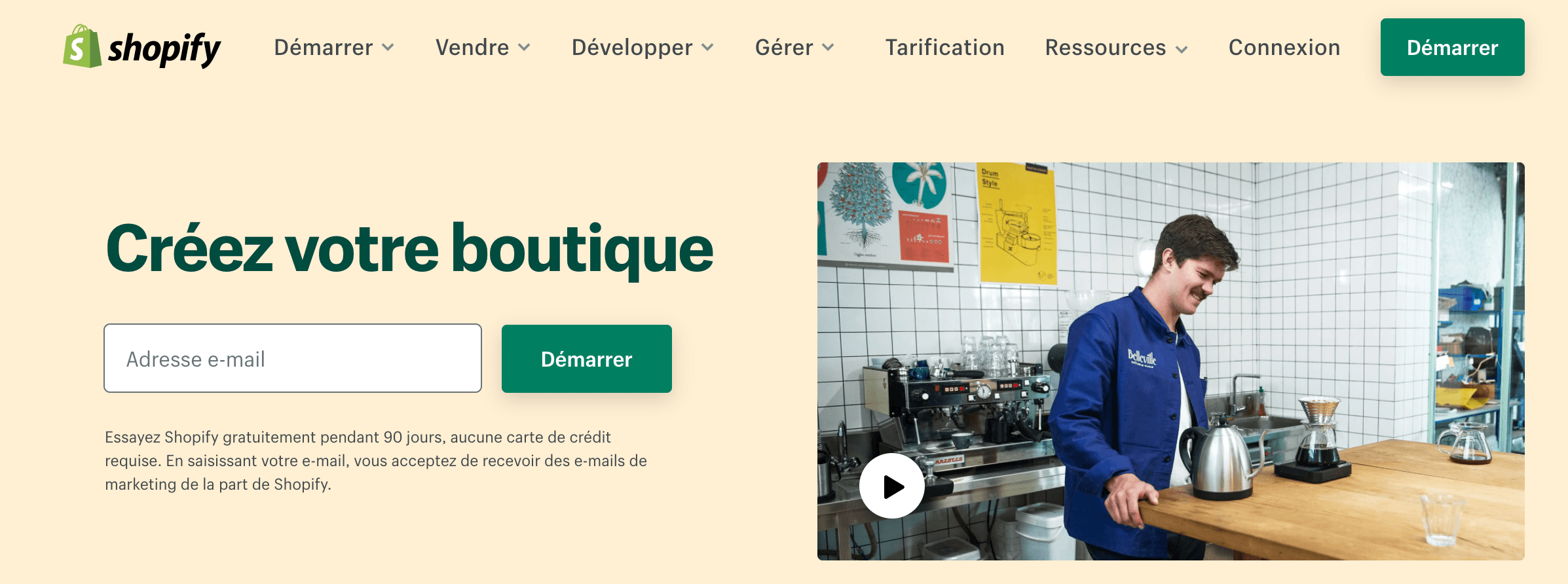 compte Shopify