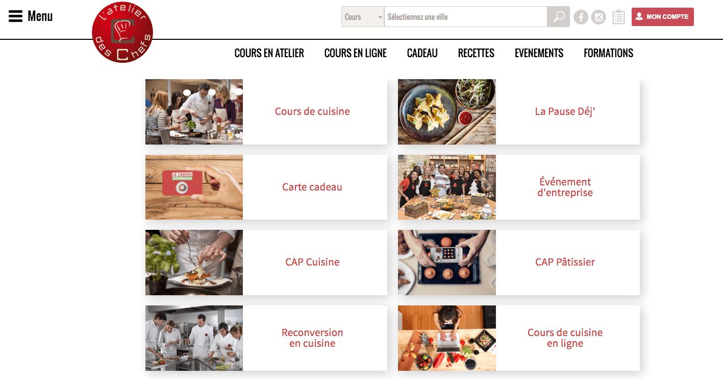 cours de cuisine en ligne