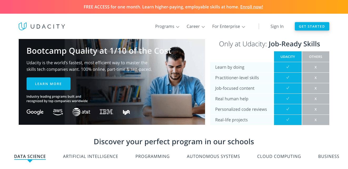 udacity cours coding en ligne