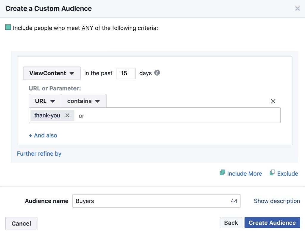 audiences similaires facebook