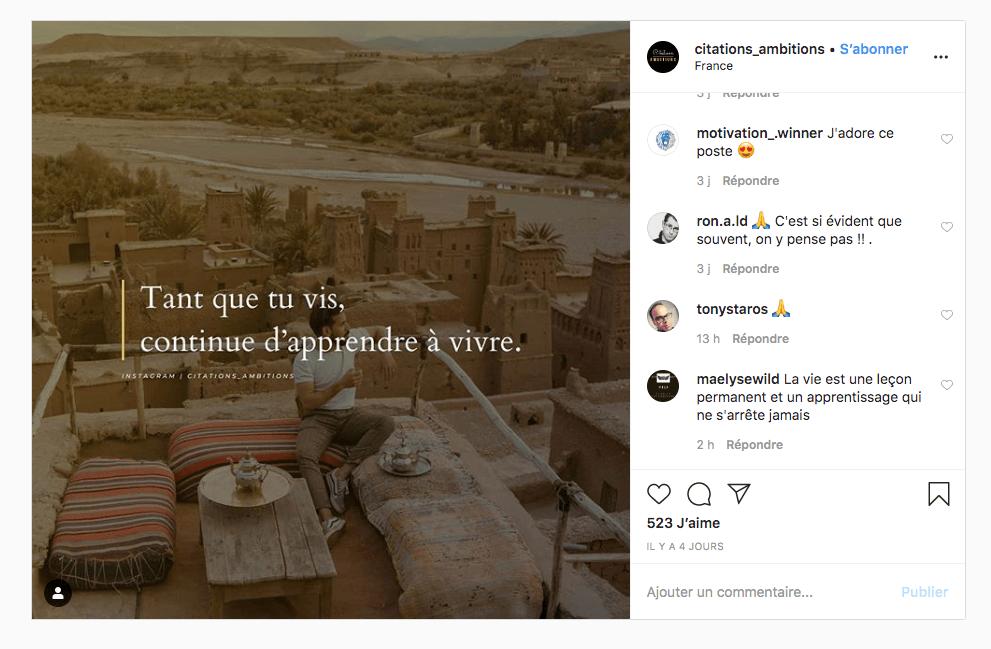 citations Instagram