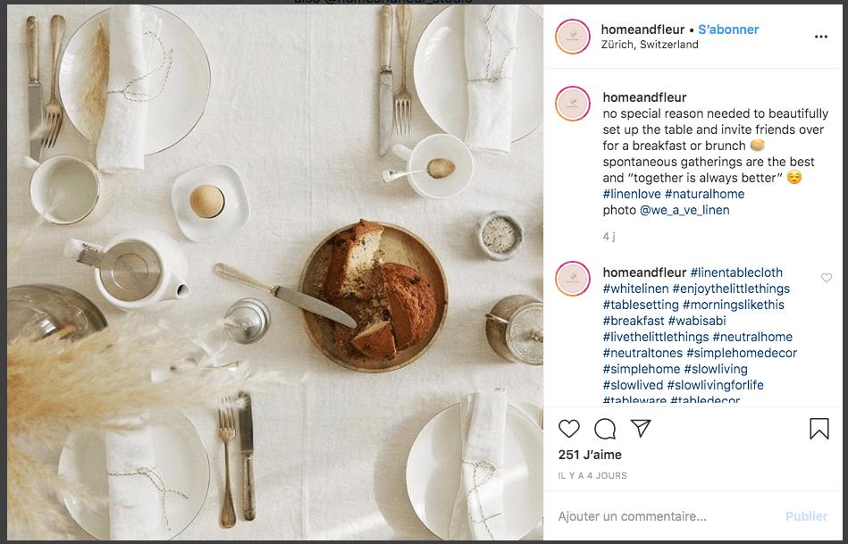 exemple post instagram