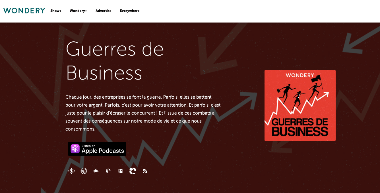 Podcast Guerre de business