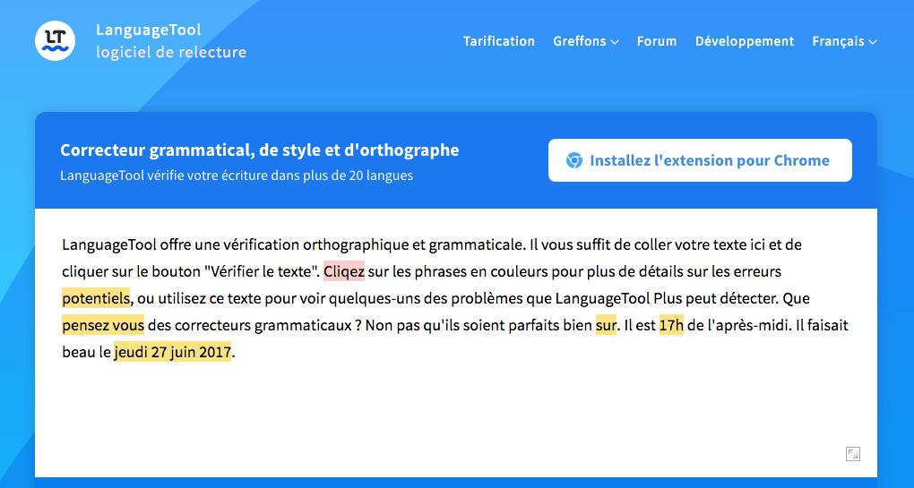 languagetool correcteur orthographique