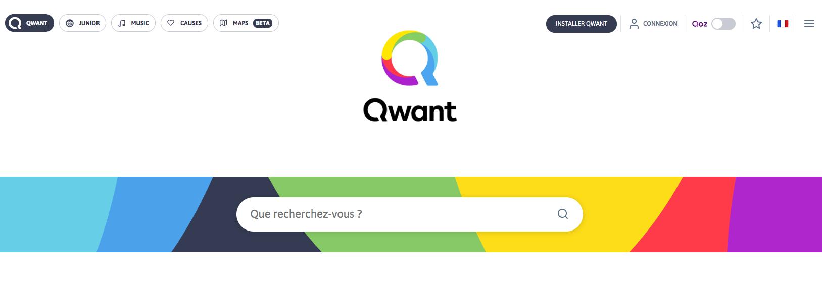 Moteur de recherche français Qwant