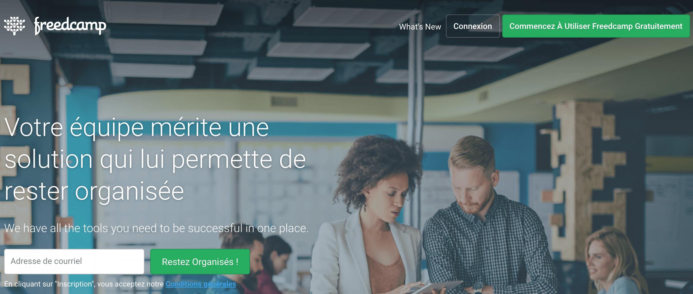 Freedcamp logiciel management de projet