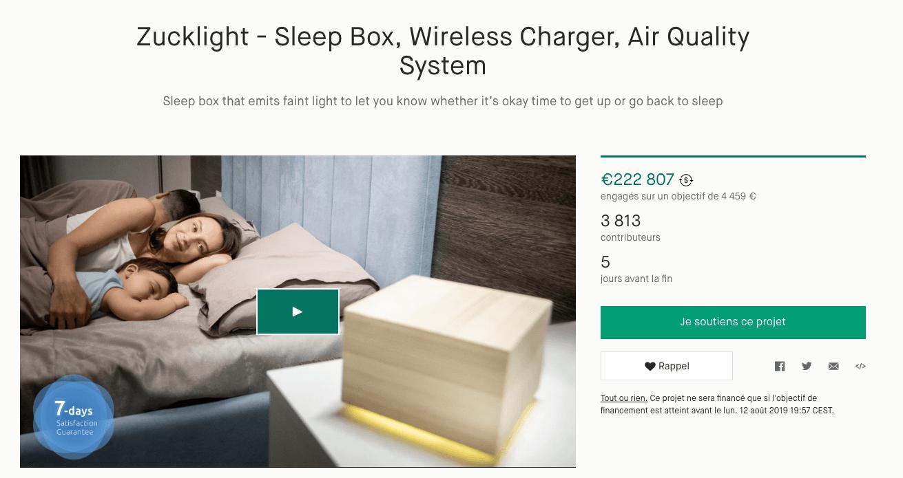 Exemple de projet sur Kickstarter