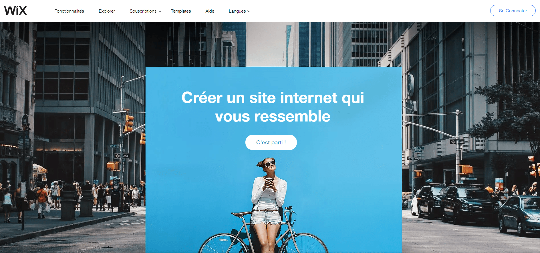Wix éditeur de site web