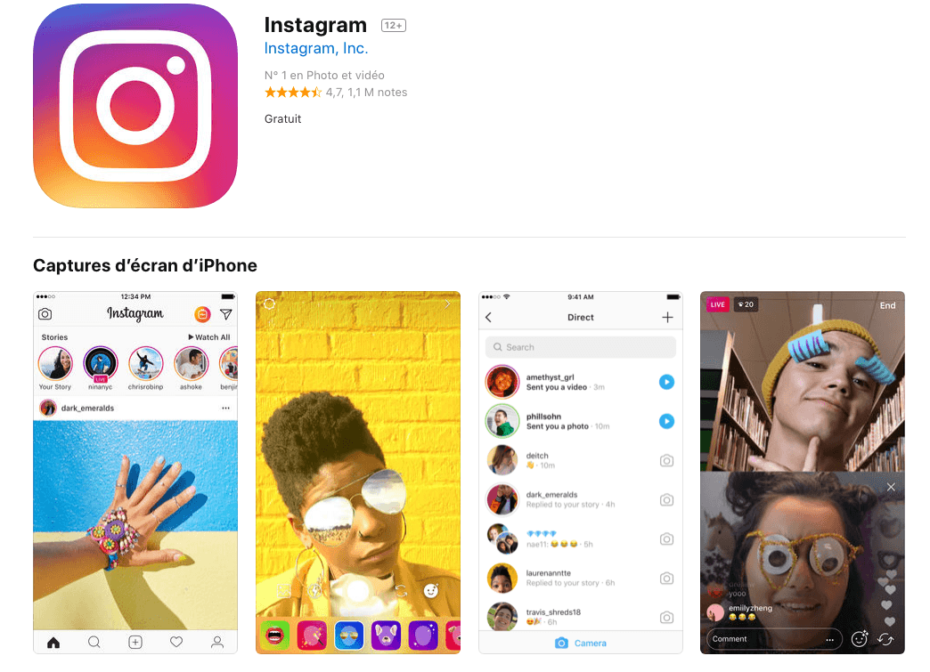 application instagram