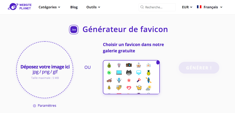 websiteplanet pour favicons