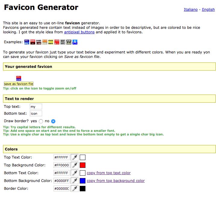 antifavicon générateur favicon