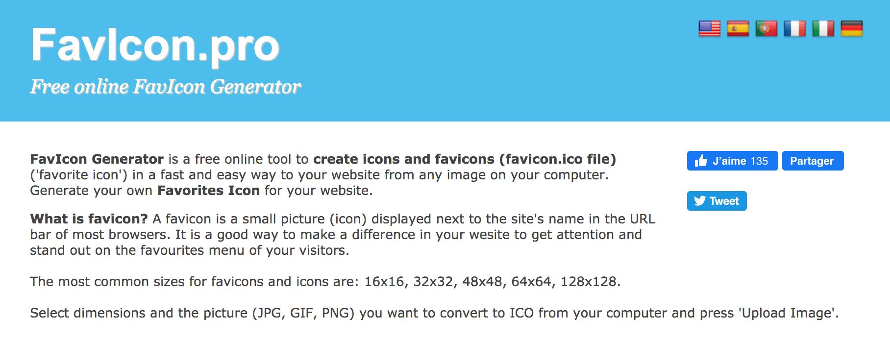 Favicon pour site
