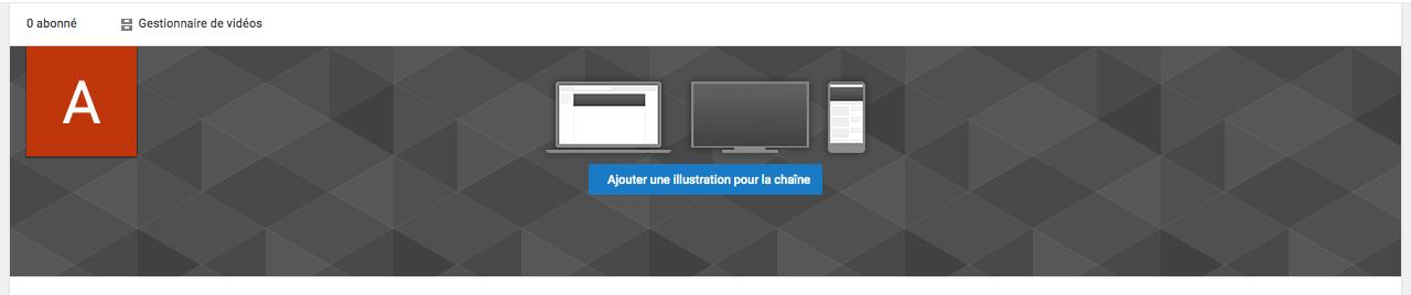 Ajouter une bannière YouTube