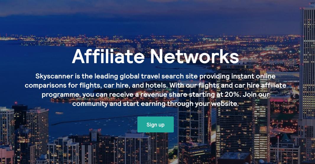 SkyScanner affiliate program