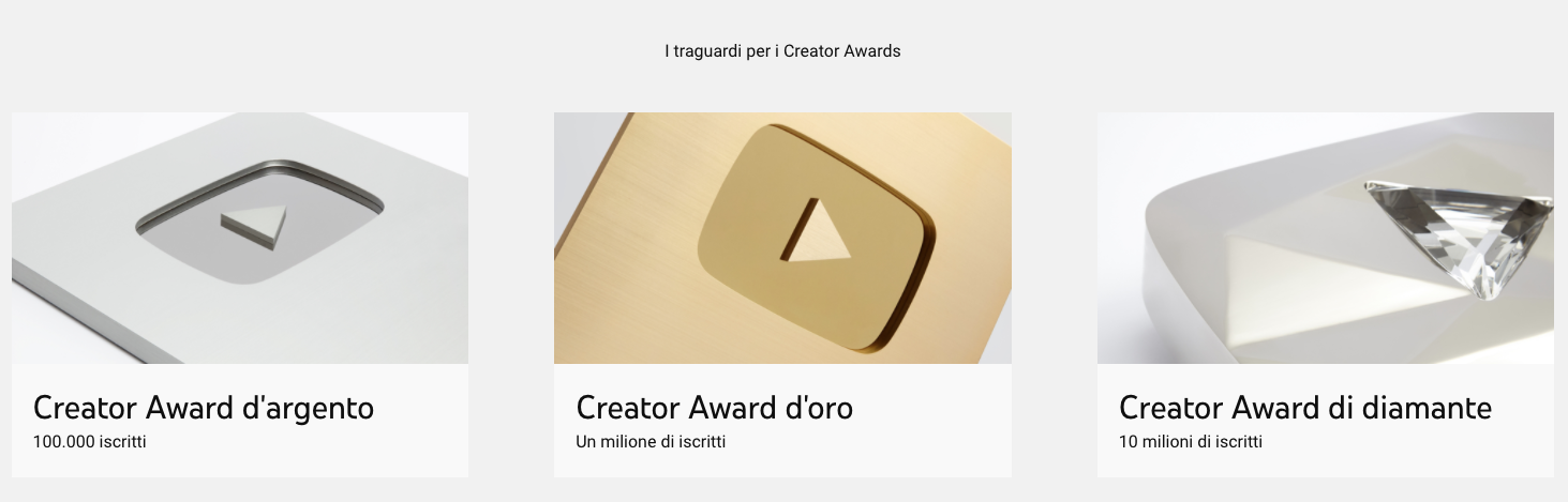 YouTube Creator Award