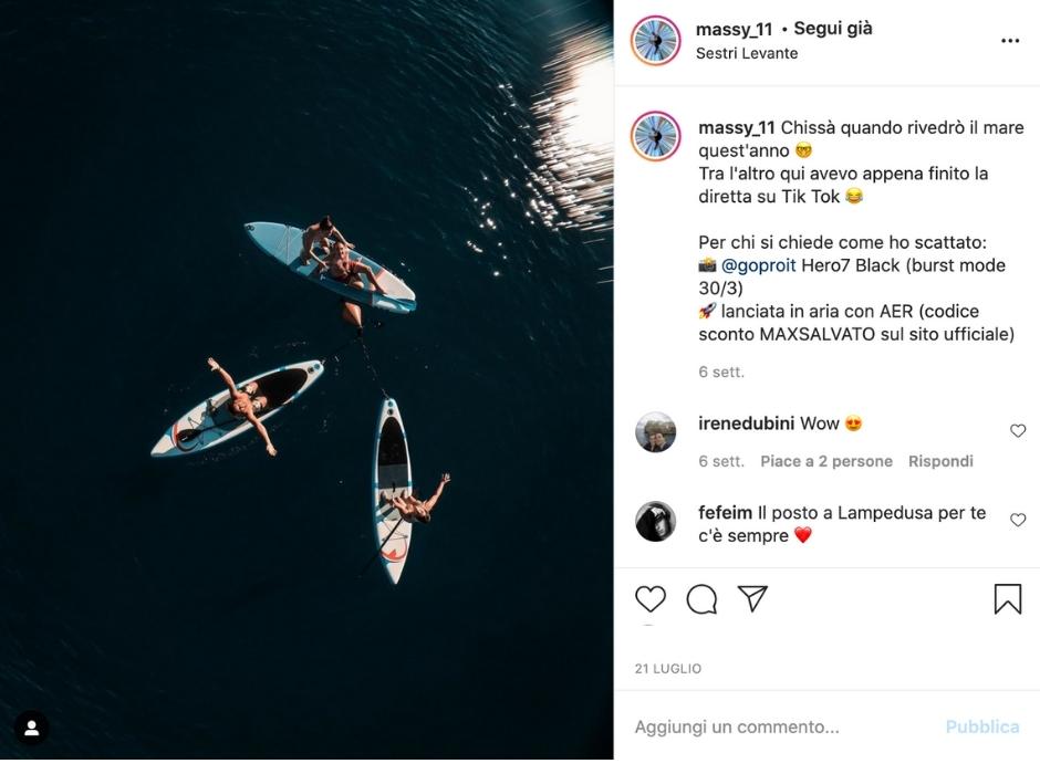 Massimiliano Salvato: Instagram content Creator