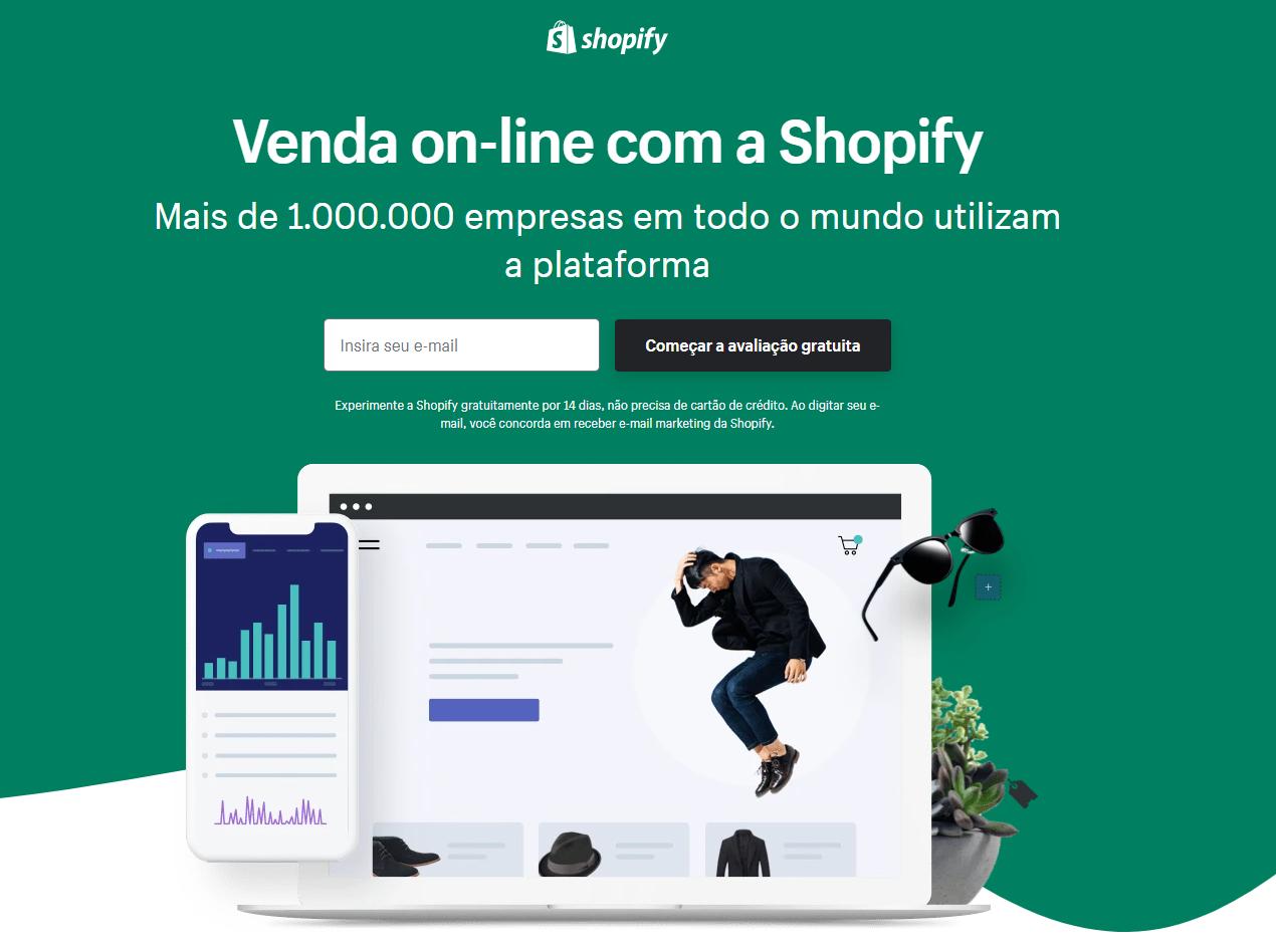 Landing page de e-commerce: Shopify