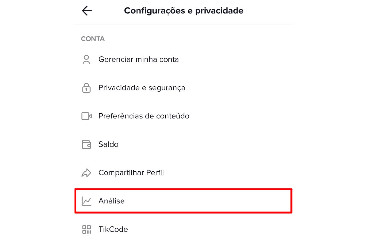 Recuso Análise do TikTok app