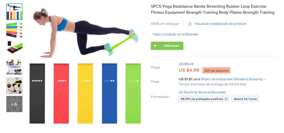 Produto para vender na pandemia: faixas para exercício físico (nicho de fitness e exercícios)