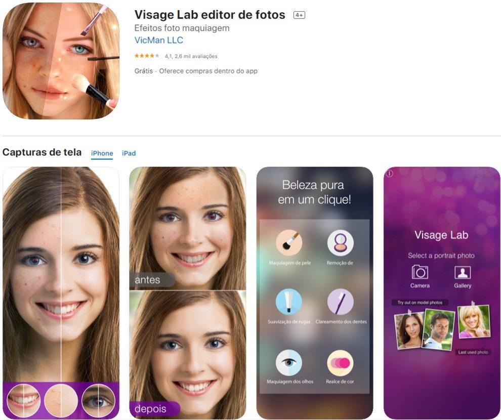 visage, app para stories
