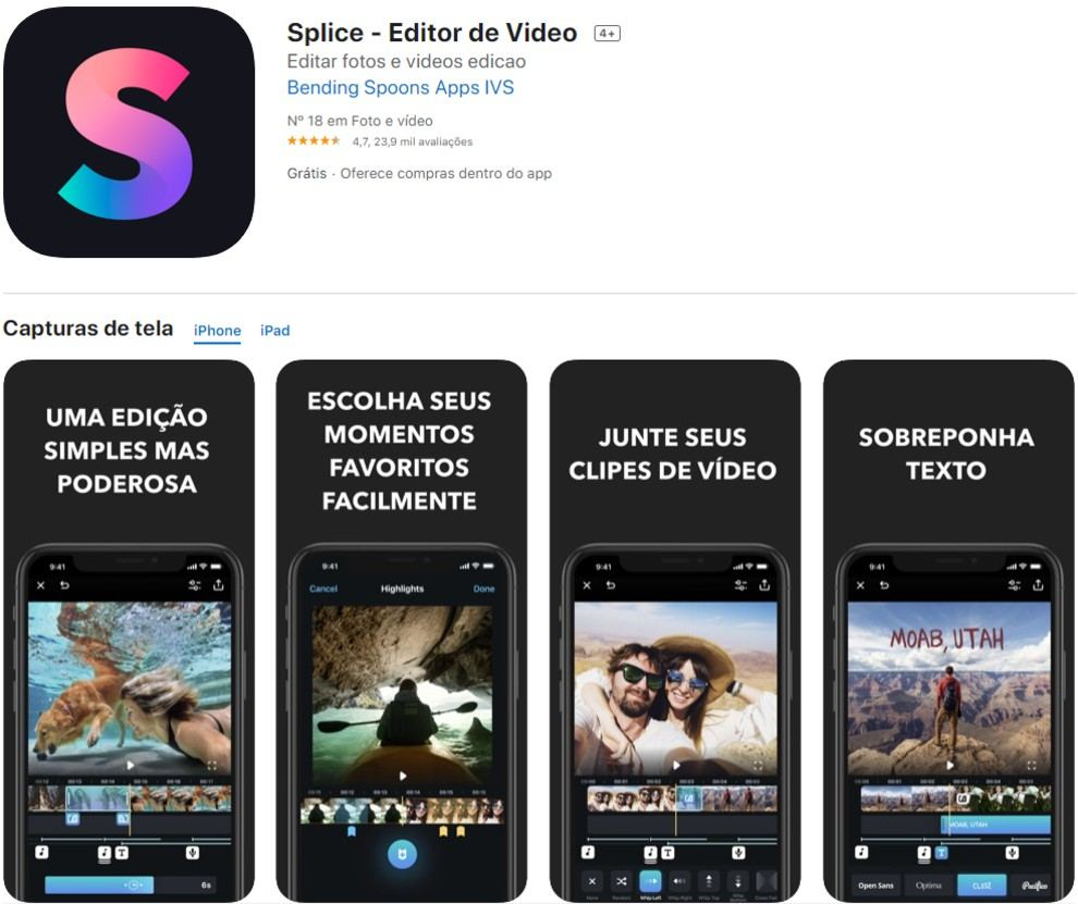 splice, app para insta stories