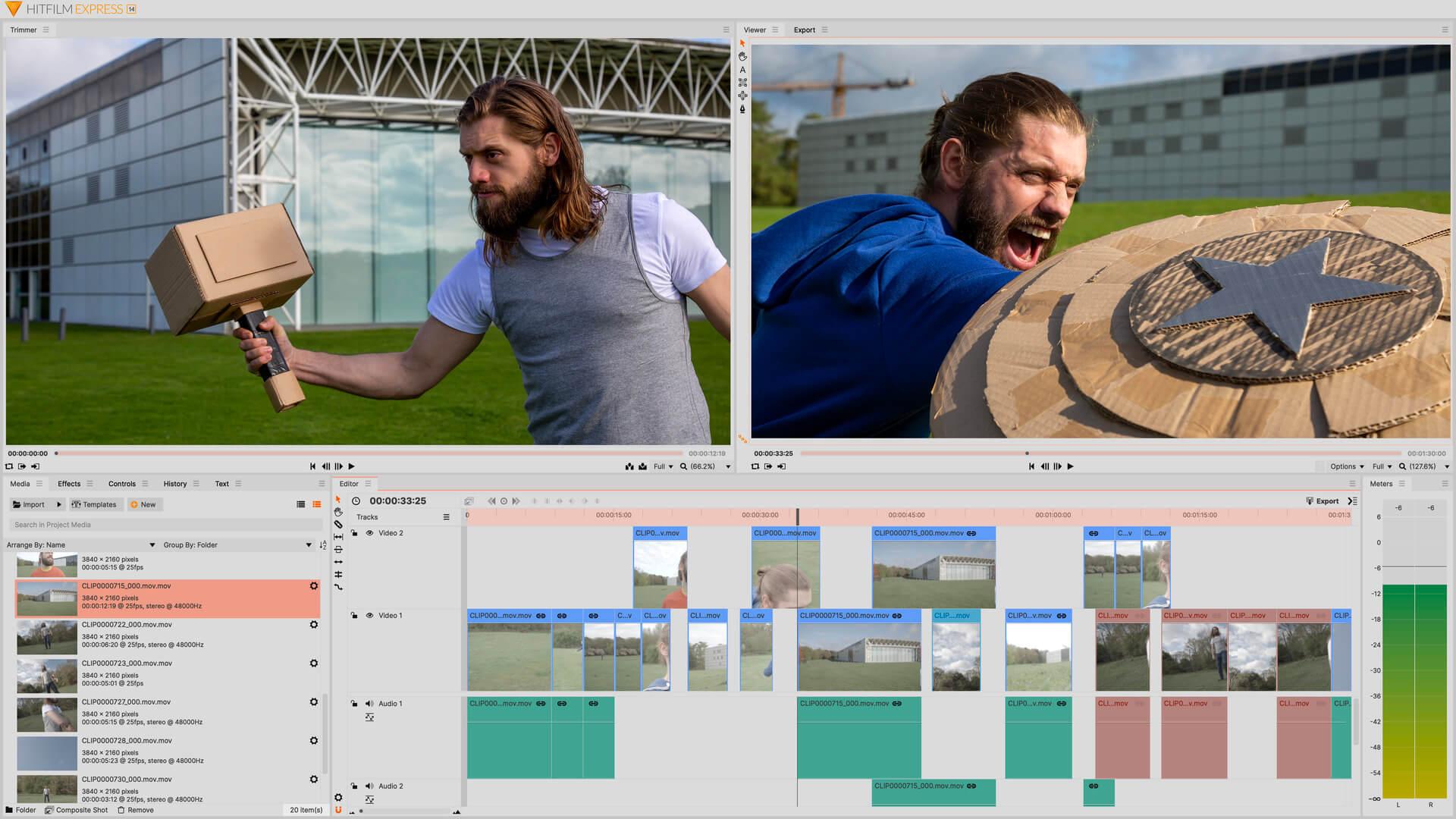 HitFilm Express é sugestão de software como editar vídeos gratuitamente